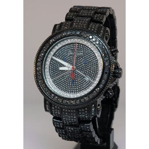 Joe Rodeo Men's Iced Out Black Diamond Watch